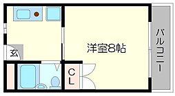 天神リバーサイドマンション[1階]の間取り