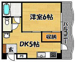 大阪府大阪市東淀川区瑞光2丁目の賃貸マンションの間取り