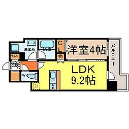 愛知県名古屋市中区松原3丁目の賃貸マンションの間取り