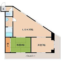 SKサンコー諏訪野[405号室]の間取り