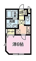 東京メトロ東西線 葛西駅 徒歩14分の賃貸アパート 1階1Kの間取り