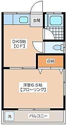 加藤荘[203号室]の間取り