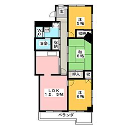 プライムガーデン[5階]の間取り