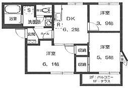 パークハウス戸田[2階]の間取り