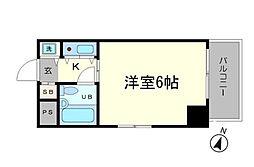 東京都世田谷区上用賀1丁目の賃貸マンションの間取り