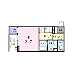 東京メトロ丸ノ内線 西新宿駅 徒歩4分の賃貸マンション 1階1Kの間取り