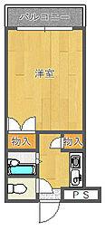 ギャレ豊津[G4-02号室]の間取り