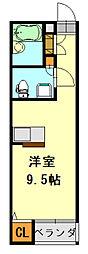 千葉県千葉市中央区今井2丁目の賃貸アパートの間取り