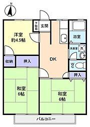 ウィングハイム[2階]の間取り