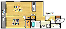 トレーフル御崎[2階]の間取り