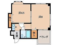 ロイヤルコーポ琴の浦[3階]の間取り