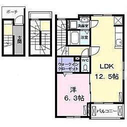 グランド ソレーユI[3階]の間取り