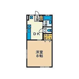 ハイツKIYO A棟[2階]の間取り