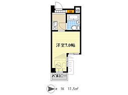 リアライズ阪急吹田2 4階1Kの間取り