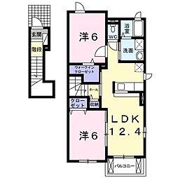 ボナールAOKI B[2階]の間取り