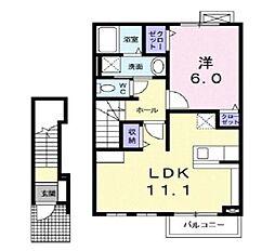 ウッド・ビレッジ[2階]の間取り