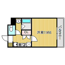 愛知県名古屋市中川区南脇町2丁目の賃貸マンションの間取り