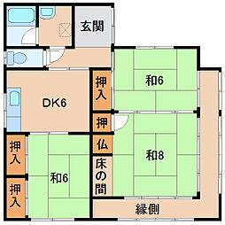[一戸建] 和歌山県和歌山市湊通丁南1丁目 の賃貸【/】の間取り
