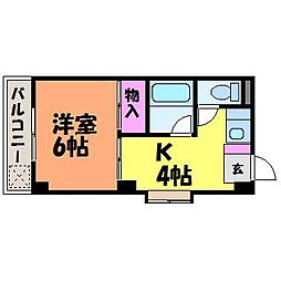 愛媛県松山市春日町の賃貸マンションの間取り