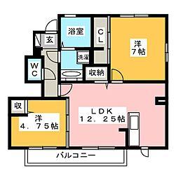 D-roomアドバンス[1階]の間取り