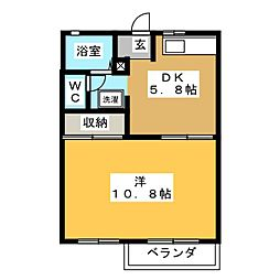 ベルテ B[2階]の間取り