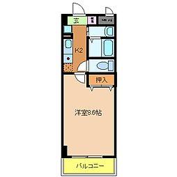 ロータス北花田[3階]の間取り