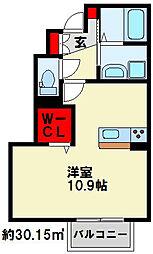 トレス横代館[1階]の間取り