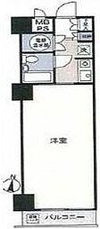 東京都中央区八丁堀4丁目の賃貸マンションの間取り