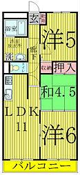 マンションフジフィールド[5階]の間取り