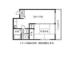 三原ビル--[402号室]の間取り