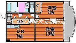 アークハイツ鹿田[6階]の間取り