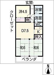 伊藤ハイツ[5階]の間取り