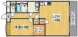 ルミエールフカキ2[402号室]の間取り