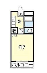メゾンプリンス[1階]の間取り
