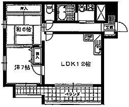 第二長法寺マンション[301号室]の間取り