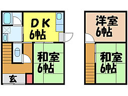 [一戸建] 愛媛県松山市中村5丁目 の賃貸【愛媛県 / 松山市】の間取り