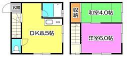 [テラスハウス] 東京都練馬区貫井3丁目 の賃貸【/】の間取り