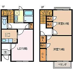 [タウンハウス] 長野県松本市桐3丁目 の賃貸【/】の間取り