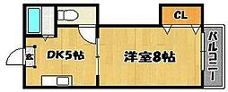 第二昭和ビル[307号室]の間取り