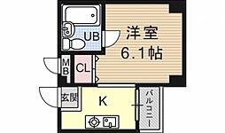 メロディハイム[305号室号室]の間取り