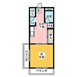 エービック浅井[4階]の間取り