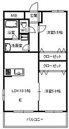 バリアトップ小笹[6階]の間取り