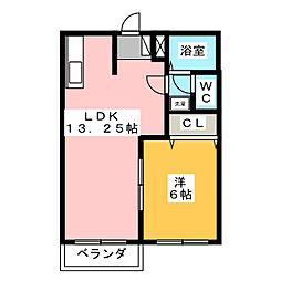 エルディムK−1[2階]の間取り