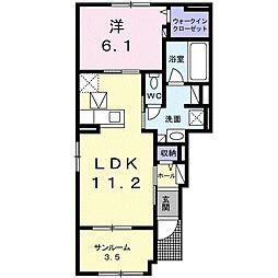 Heart House I[1階]の間取り