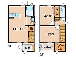 シャーメゾン松江[1階]の間取り