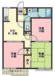 グリーンハイツC棟[2階]の間取り
