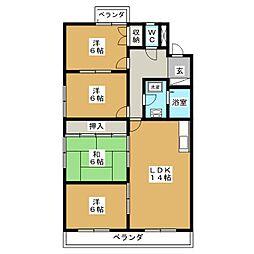 メゾン松美[4階]の間取り