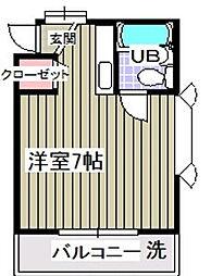 ローズアパートQ16[2階]の間取り