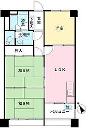 烏山南住宅2号棟[108号室]の間取り