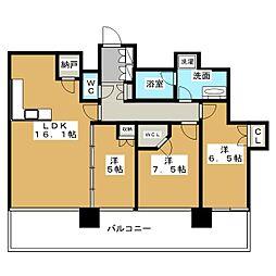 シティタワー名古屋久屋大通公園[19階]の間取り